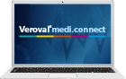 start page of Veroval medi.connect showed on a laptop screen